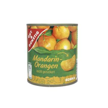 Gut&Günstig Mandarin-Orangen Leicht Gezuckert 300g/ Mandarinas en Almíbar
