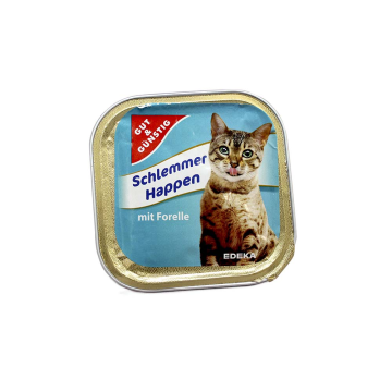 Gut&Günstig Schlemmerhappen Forelle 100g/ Cat food Trout