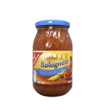 Gut&Günstig Bolognese mit 21% Rindfleisch 400ml/ Salsa Boloñesa