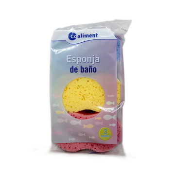 Coaliment Esponja de baño Pack x3