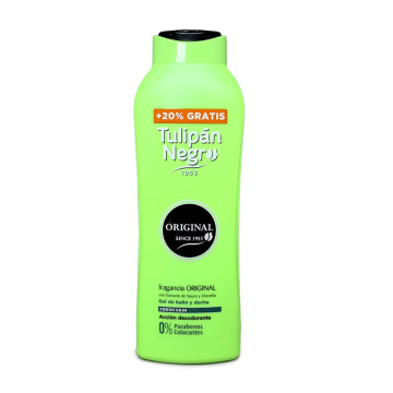 Tulipán Negro Gel de Baño 0% Parabenos 600ml+120/ Shower Gel