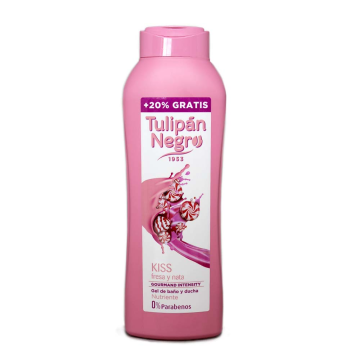 Tulipán Negro Gel de Baño Kiss Fresa y Nata 600ml+120/ Shower Gel