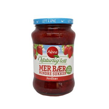 Nora Naturlig Lett Jordbærsyltetøy 535g/ Light Strawberry Jam