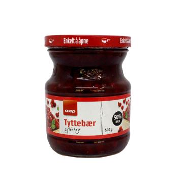 Coop Tyttebærsyltetøy 500g/ Mermelada de Arándanos Rojos