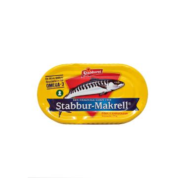 Stabburet Stabbur-Makrell Filet i Tomatsaus 170g/ Filetes de Caballa Tomate