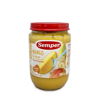 Semper Mango & Banana 190g/ Potito de Mango y Plátano