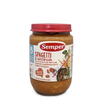 Semper Spagetti & Köttfärssås 190g/ Potito de Espaguetis en Salsa