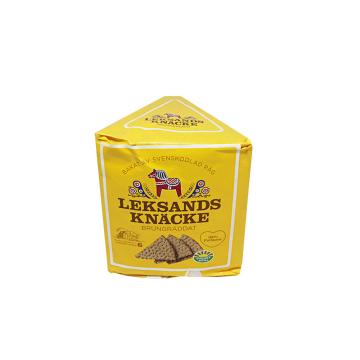 Leksands Knäcke Trekant Brungräddat 200g/ Toasted Rye Bread