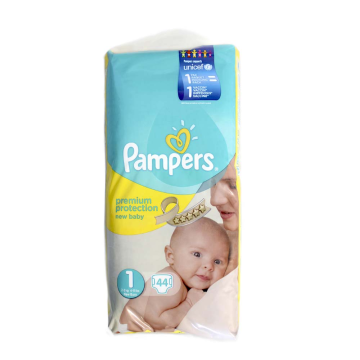 Pampers Premium Protection 1 / Pañales Talla 1 x44