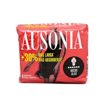 Ausonia Noche con Alas Compresas x8/ Santitary Towels