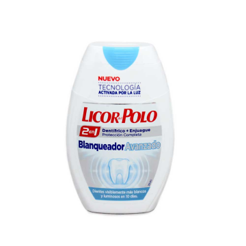 Licor del Polo Blanqueador Avanzado 2en1 Dentífrico+Enjuague 75ml