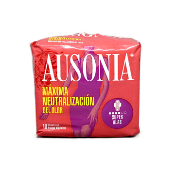 Ausonia Super Alas Compresas x10/ Sanitary Towels