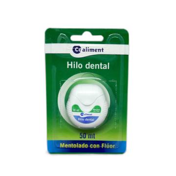 Coaliment Hilo Dental Mentolado Flúor 50m/ Mint Floss with Fluoride