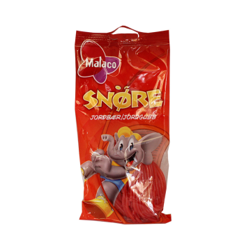 Malaco Snøre Jordbær 94g/ Red Strawberry Licorice