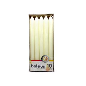 Bolsius Dinner Candles Cream x10/ Velas de Cena Crema