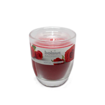 Bolsius Aromatic Velvet Rose/ Candle with Fragance