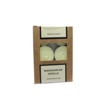 Cerería Mollá Velas de Té Madagascar Vanilla x6