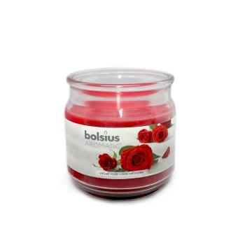 Bolsius Geurglas gevuld 100/98 Velvet Rose/ Aromática Rosa Velvet