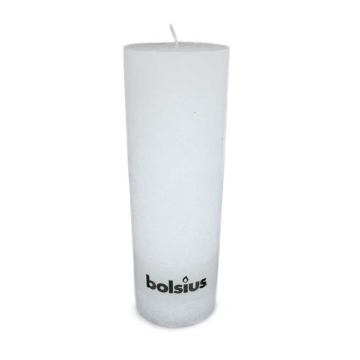 Bolsius Stompkaars Rustiek 300/100 Wit/ Vela Rústica Blanca