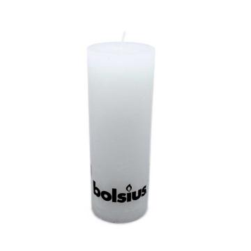 Bolsius Stompkaars Rustiek 190/68 Wit/ White Candle