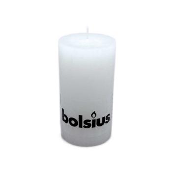 Bolsius Stompkaars Rustiek 130/68 Wit/ White Candle