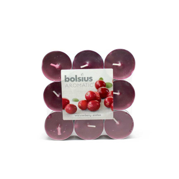 Bolsius Geurtheelichten Wilde Cranberry x18/ Tealights with Fragance