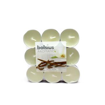 Bolsius Geurtheelichten Vanille x18/ Velas Té Aromáticas Vainilla
