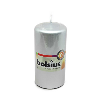 Bolsius Stompkaars 120/60 Zilver/ Silver Candle