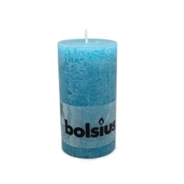Bolsius Stompkaars Rustiek 130/68 ZeeBlauw/ Navy Blue Candle