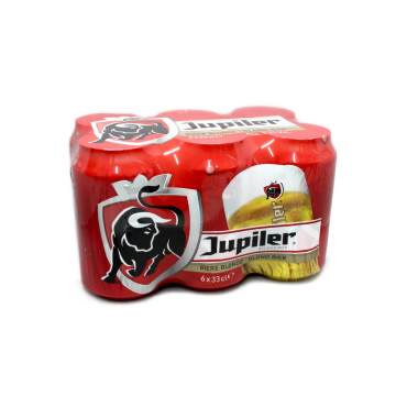 Jupiler Blond Bier Blikken 6x33cl/ Blond Beer