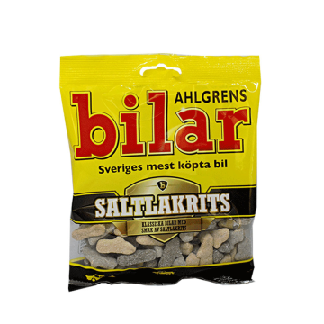 Bilar Ahlgrens Saltlakrits 100g/ Dulces Regaliz Salado