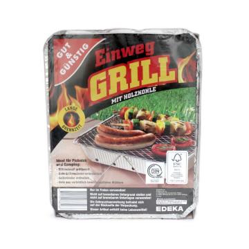 Gut&Günstig Einweg Grill Mit Holzkohle/ Tray for Barbecue