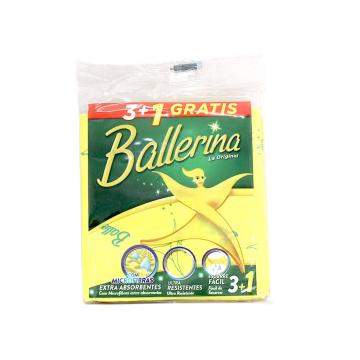 Ballerina Bayeta con Microfibras x3+1/ Absorbent Microfiber Cloth