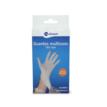 Coaliment Guantes Multiusos Latex Talla M x11/ Multi Purpose Gloves M
