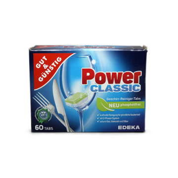 Gut&Günstig Power Classic Geschirr-Reiniger x60/ Dishwasher Tablets