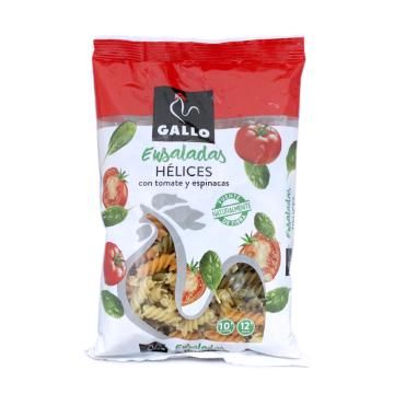 Gallo Ensaladas Hélices Tomates y Espinacas 250g/ Spirals Tomato&Spinach