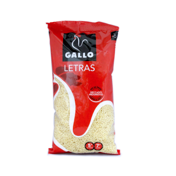 Gallo Letras 250g/ Pasta Letters for Soup
