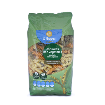 Alteza Espirales con Vegetales 500g/ Pasta Spirals with Vegetables