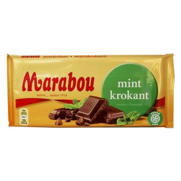 Marabou Mint Krokant 200g/ Crunchy Mint Chocolate