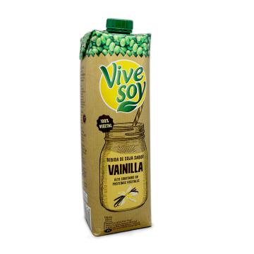 VivesSoy Bebida de Soja Vainilla 1L/ Vanilla Soya Drink