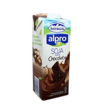 Asturiana Alpro Soja Chocolate 1L/ Chocolate Soya Drink