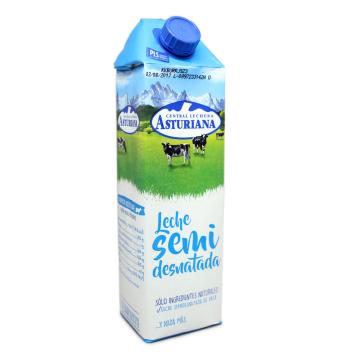 Asturiana Leche Semidesnatada 1L/ Semi Skimmed Milk