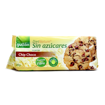 Gullón Diet Nature Chip Choco Sin azúcares 125g/ Sugar-free Cookies