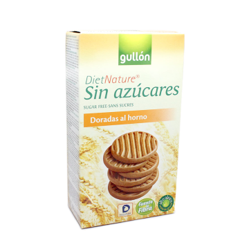 Gullón Diet Nature Galletas Doradas al Horno Sin azúcares 330g/ Sugar-free Cookies