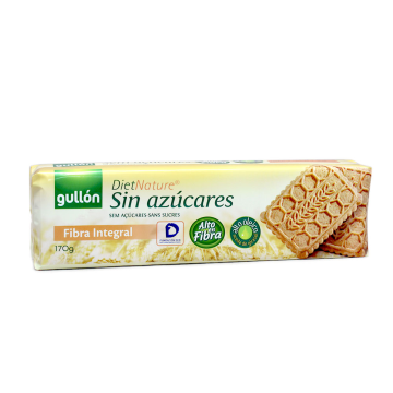 Gullón Diet Nature Galletas Fibra Sin azúcares 170g/ Fiber Sugar-free Cookies