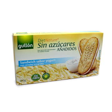 Gullón Diet Nature Sandwich Yogurt Sin Azúcar 220g/ Cookie with Yogurt Sugar-free (8,45 € / Kilo)