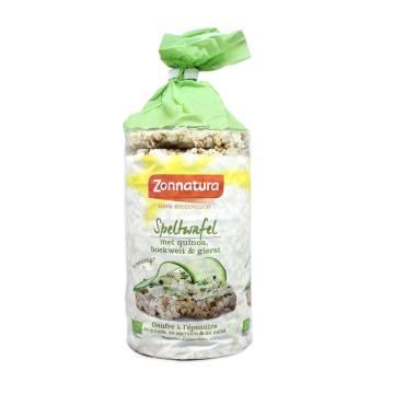Zonnatura 100% Rijstwafel Spelt Quinoa 100g/ Spelt, Quinoa and Rice Cakes