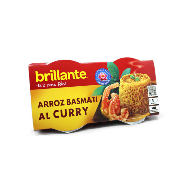 Brillante 1minuto Arroz Basmati al Curry 2x125g/ Rice Basmati&Curry