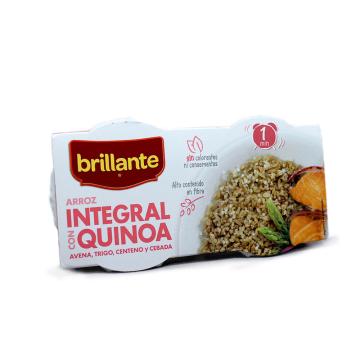 Brillante 1minuto Arroz Integral con Quinoa 2x125g