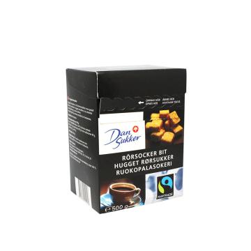 Dan Sukker Rorsocker Bit Fairtrade 500g/ Cane Sugar Cubes